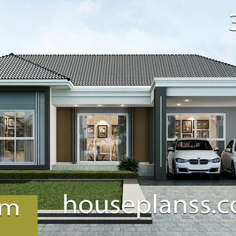 House Plans 7 5x11 With 2 Bedrooms Full Plans House Plans Sam Small House Design Plans Small House Design Home Design Plans