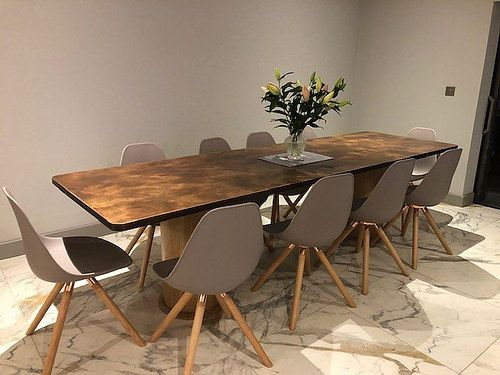 199 Aged Copper Dining Table Dining Table Copper Dining Table