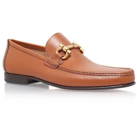 Salvatore Ferragamo Girodano Leather Loafer (720 CAD) ❤ liked on Polyvore featuring men's fashion, men's shoes, men's loafers, mens black leather shoes, mens black loafers shoes, mens leather shoes, mens loafer shoes and mens leather loafer shoes