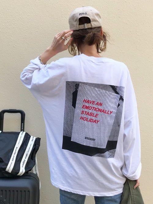 Kumika Via Jのtシャツ カットソーを使ったコーディネート Wear ロングtシャツ Tシャツ シャツ カットソー
