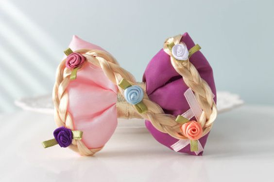 Hey, I found this really awesome Etsy listing at https://www.etsy.com/listing/251337976/tangled-hair-bow-rapunzel-hair-clip