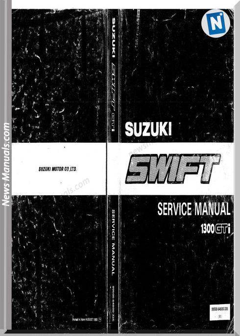 Suzuki Swift Gti 1989 Shop Manual 1 Suzuki Swift Suzuki Gti