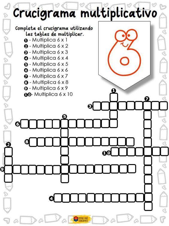 Crucigrama multiplicativo - Imagenes Educativas