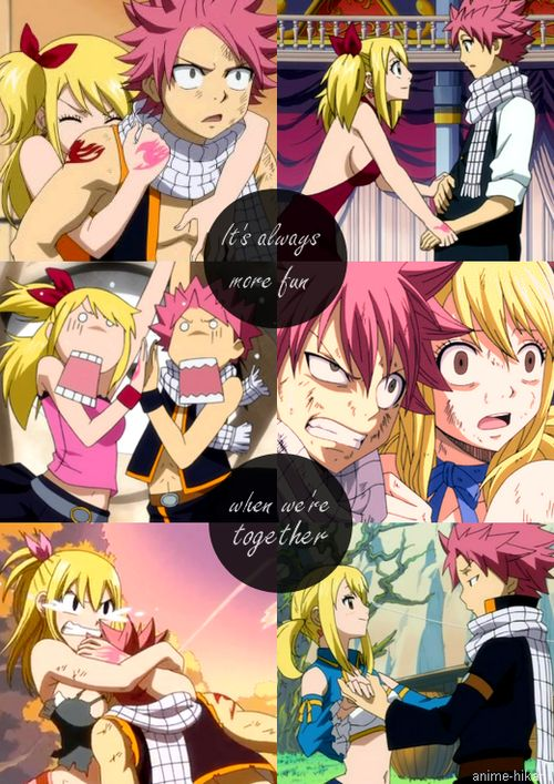 Fairy tail natsu and lucy fairy tail pinterest its always fairytail and so cute - Fairy tail lucy et natsu ...