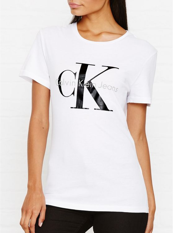 Calvin Klein Jeans Ck Jeans Logo T-Shirt - WhiteSize & FitTrue to size…