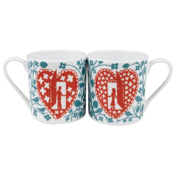 Rob Ryan His and Hers Mug Pair - Rob Ryan Mug Set — Erie Drive