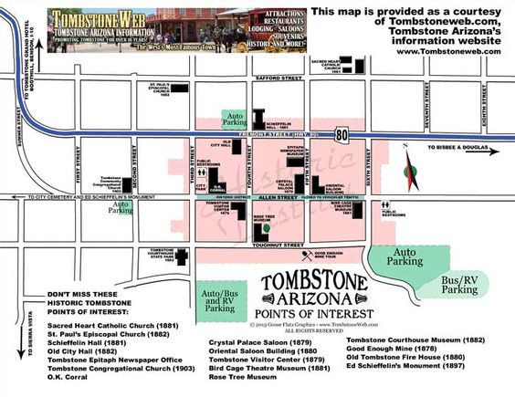Tombstone Arizona Map