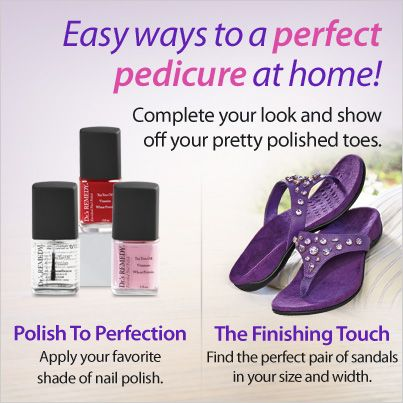 Apply your favorite nail polish to complete your look!