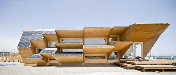 Endessa Pavilion IAAC, solar facade, wood architecture, sustainable architecture, photovoltaics, student work
