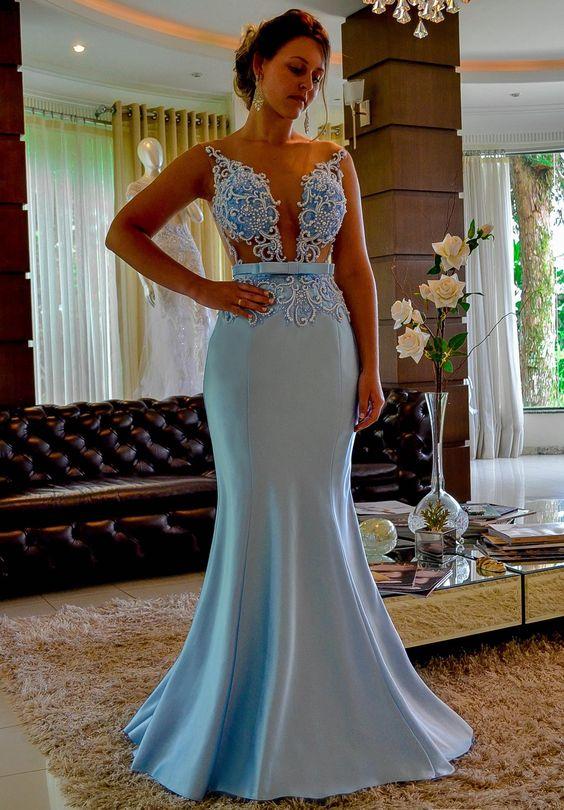 Vestido de formatura sereia pura delicadeza
