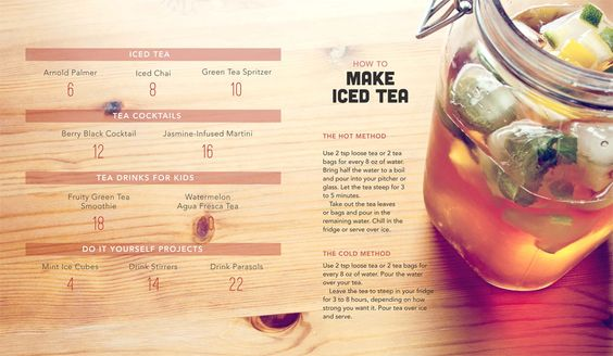 Make the perfect Iced Tea! Easy brewing instructions.   Ice Days Ahead Recipe Book | Stash Tea