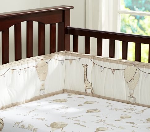 Pottery Barn Kids Baby Balloons Crib Bedding ($19-229): Muted neutral shades make this crib bedding from Pottery Barn Kids a great option for a gender neutral nursery.