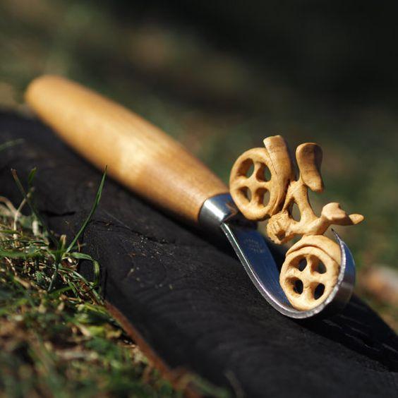 Customised wooden bike bicycle made of wood key by ArtsyCarvings