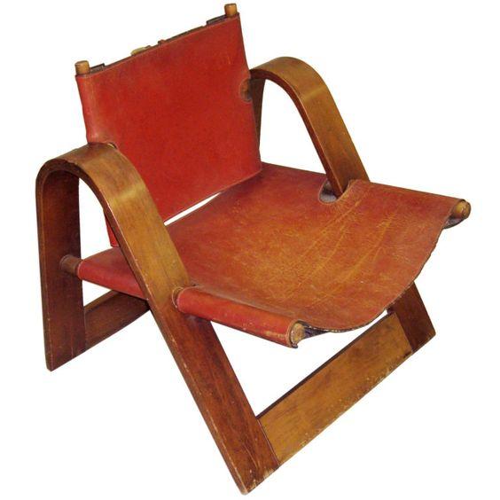 Modernist Leather Chair attributed to Borge Mogensen. Denmark. Circa 1950/60.
