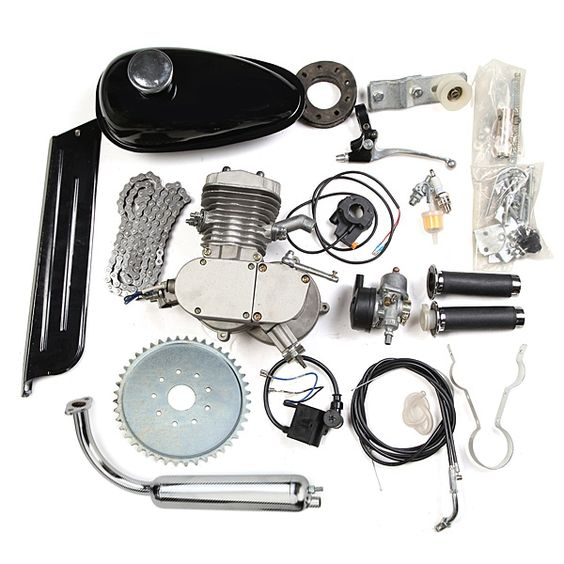 Accessoires du moteur de vélo motorisé 80cc 2 temps moto silencieux fixés