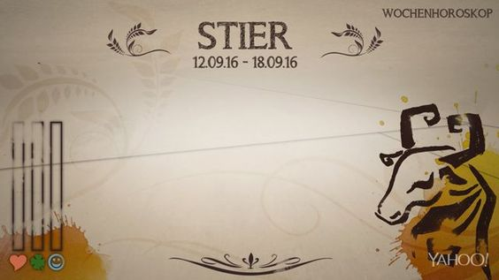 Wochenhoroskop: Stier (KW37 - 2016)