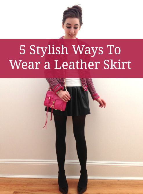 5 stylish ways to wear a leather skater skirt this season