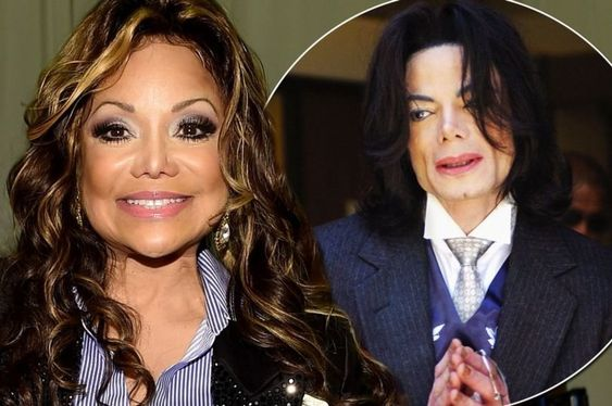LaToya Jackson with brother Michale Jackson