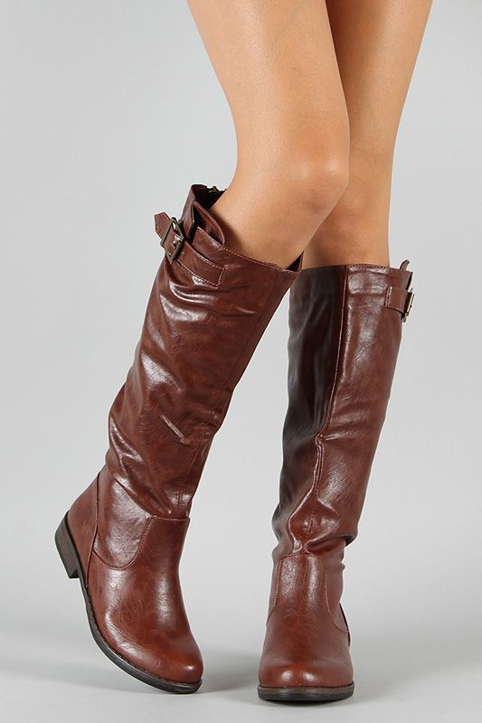 : Riding Knee, Buckle Riding, Knee High Boots, 01N Buckle, Montage 01N, Shoe Boots, Knee Highs, Bamboo Montage, Boots Retro