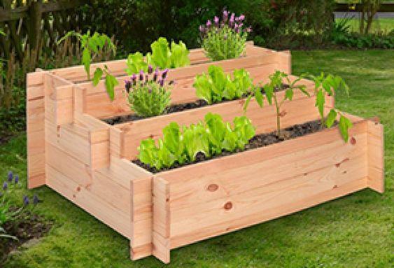 Stufen Hochbeet Pinienholz Treppenhochbeet Hochbeet Garten Hochbeet Diy Gartenbau