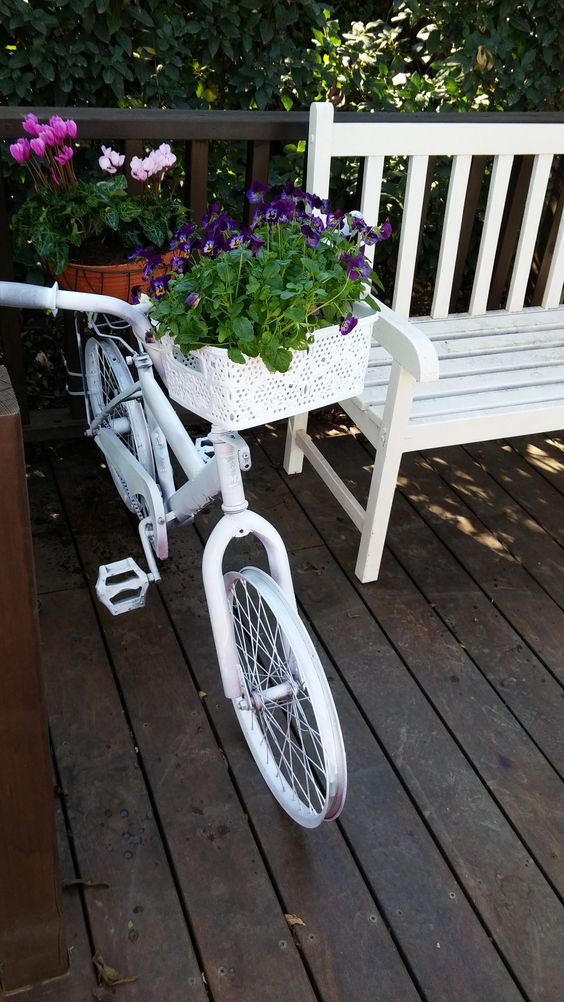 Bicycle with flowers