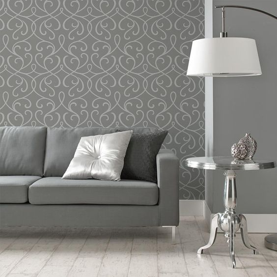 Wallpaper double roll - Idee tapisserie salon ...