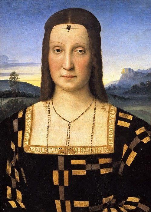 Портрет Елизаветы Гонзага (приписывается). Рафаэль Санти:
