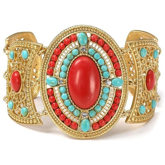 Carolee Lux Red Sea Linked Flex Bracelet
