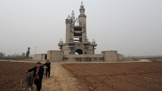 Wonderland Amusement Park, 20 miles outside of Beijing in Chenzhuang Village, China (never opened, construction stopped)