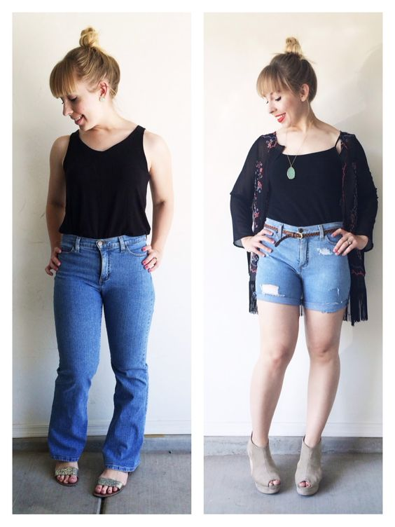 "Transform a $4.00 pair of thrift store ""mom jeans"" into high ..."