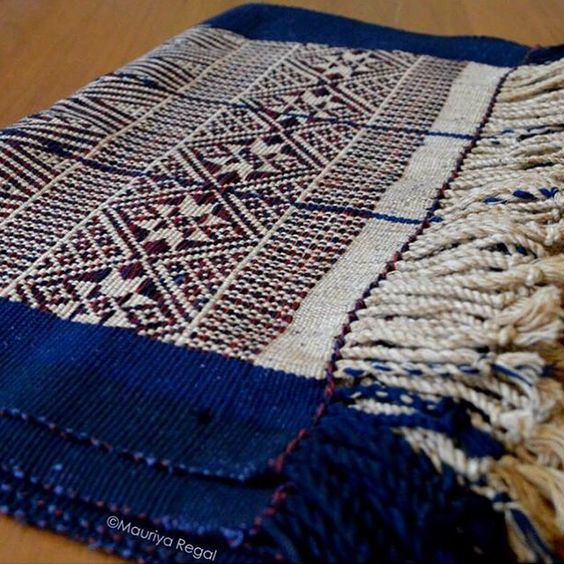 Chin Traditional table runner hand-weaved by local artisans, one of the tribes from the hilly Chin State of Myanmar. #tablerunner #chin #handweaving #myanmar #burma #MauriyaHome #MauriyaHeritage #traditionalhandicraft #myanmarhandicraft
