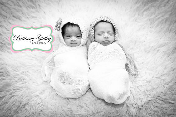 Twin Newborn Photographer | Brittany Gidley Photography LLC