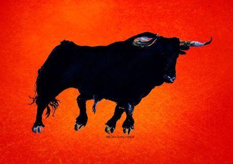 'Toro ORANGE 1 SONDERPREIS' von April Turner bei artflakes.com als Poster oder Kunstdruck $18.03