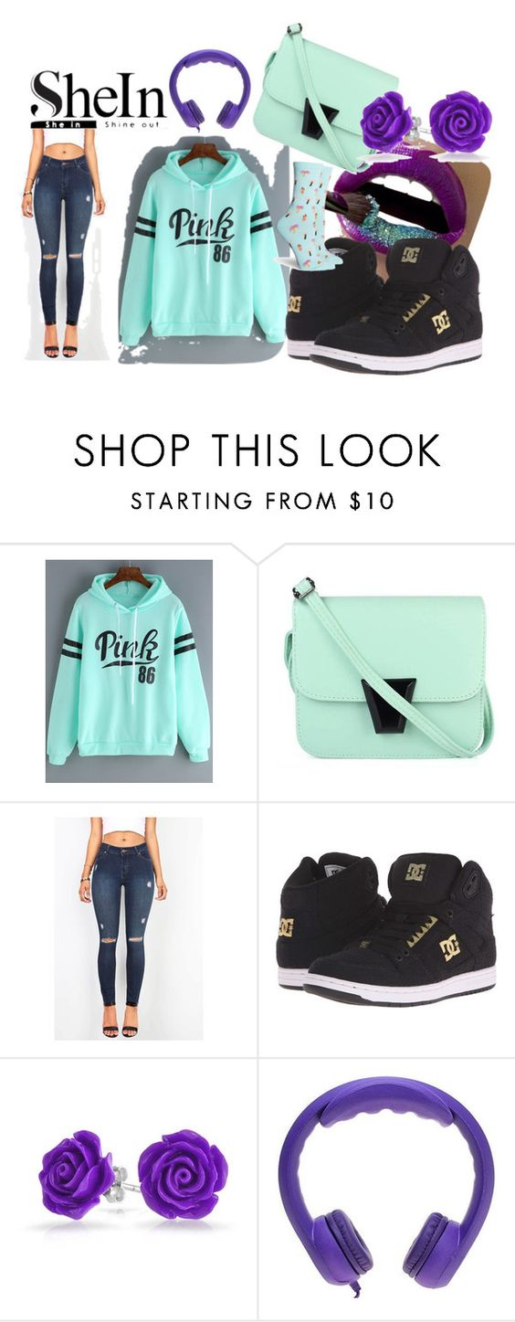 """Flirty & Fun Casual Purple & Light Teal Set"" by magikartz ❤ liked on Polyvore featuring DC Shoes, Bling Jewelry and Richer Poorer"