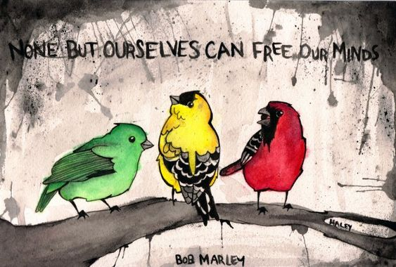 bob marley three little birds tattoo | little birds by ~sprinklexeater on deviantART