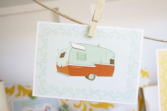 free vintage camper printables