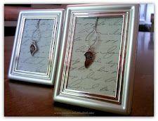 Best Friends necklace photo frame crafty idea