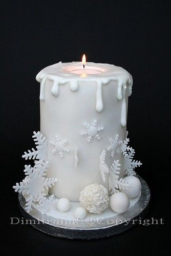 Cake Images With Candle : Weihnachtstorte Christmas Cake Candle great cakes ...