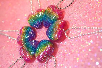 #glitter #resin #jewelry #necklace