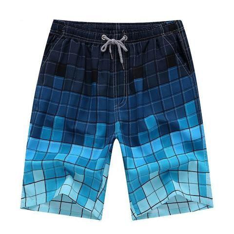 Men Casual Flower Pattern Swimwear Shorts Surf Board Beach Wear Pants Summer