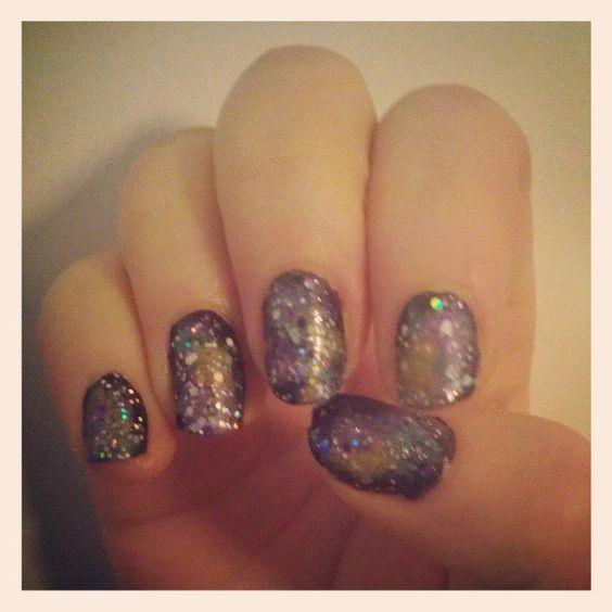 I think I'm getting better at galaxy nails.