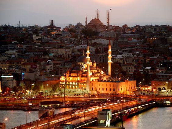 Panoramique du haut de la tour de Galata    ISTANBUL