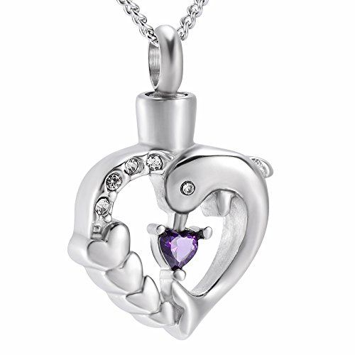Box+Chain+Fill Kits Key to Your Heart Memorial Cremation Jewelry Ashes Urn Necklace for Women