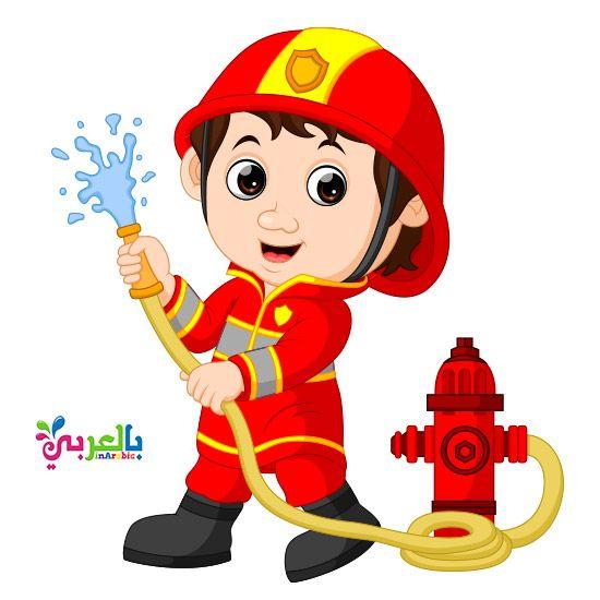 الغاز المهن للاطفال بالصور Firefighter Cartoon Clip Art Cartoon