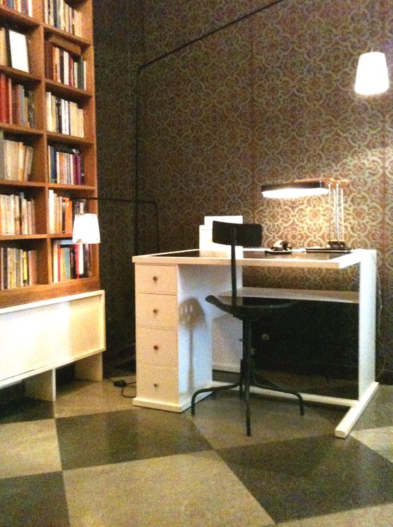 edwin vlassenroot, floorlamps and library and desk (Tribute to Rietveld)