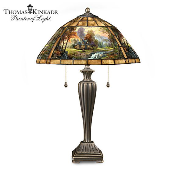 Thomas Kinkade, Lamps And Glass Table Lamps On Pinterest