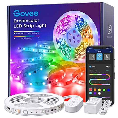 Led Strip Lights Rgbic Govee 16 4ft Bluetooth Color Changing Rainbow Led Lights App Control With Segmented Led Strip Lighting Strip Lighting Led Light Stick