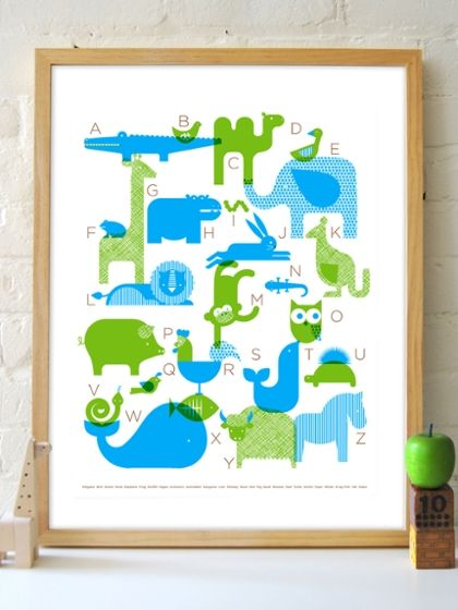 ABC Poster by Petit Collage at Gilt