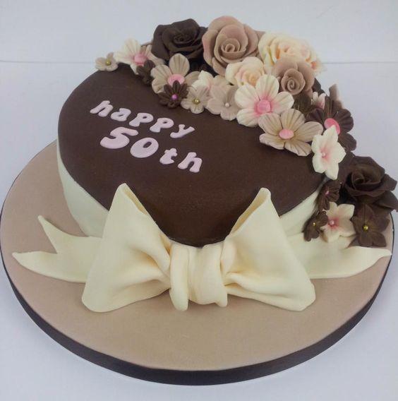 Chocolate 50th Birthday Cake