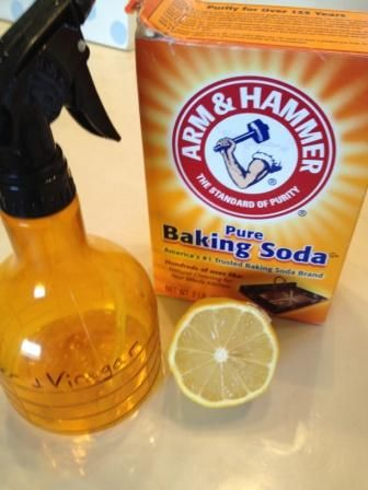 Baking Soda + Vinegar to get rid of the toilet ring!  Lemon to get rid of hard water stains on fixtures!